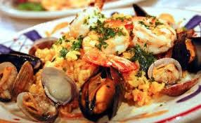 Ρύζι με θαλασσινά,Rice with seafood.