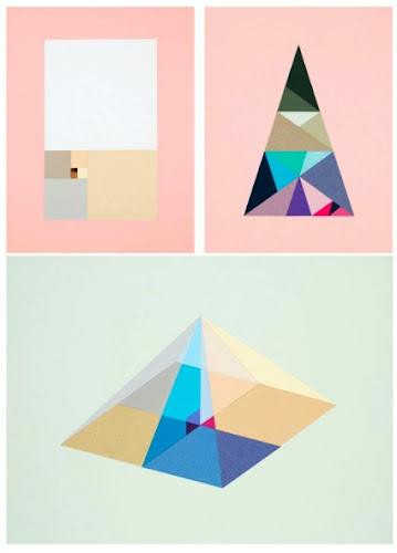 Art Geometric Shapes Intense Color