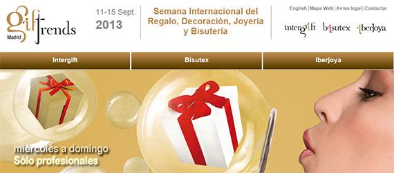 Giftrends Madrid 2013, del 11 al 15 de septiembre en IFEMA Feria de Madrid