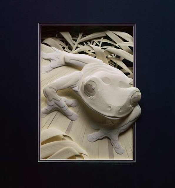 Wildlife Paper Sculpture by Calvin Nicholls 3