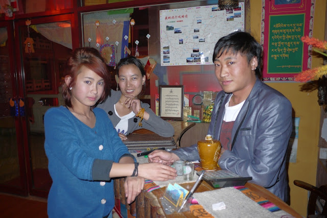 three Tibetans in Xining, Qinghai