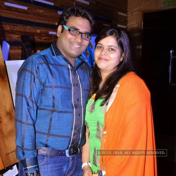 Mohit and Ruchi during an event called A New Perspective on Creativity, held at Le Meridien in Bangalore.