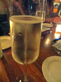 Serratto Bloggers Dinner, starting with bubbles is always a happy place: Ruffino Extra Dry Prosecco NV