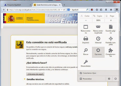 Solución al error sec_error_unknown_issuer y sec_error_untrusted_issuer en Mozilla Firefox
