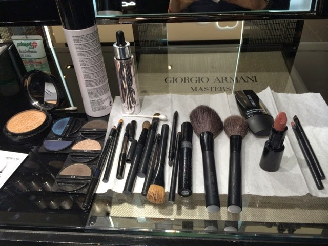 beauty session, milano , la rinascente, lifestyle blogger, rouge d'Armani, maestro eye shadow