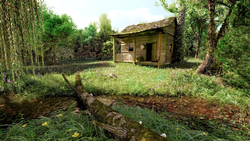 реалистичная трава в блендере