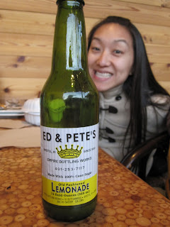 I come all the way to CA to drink lemonade from RI (note the bottle has a phone number, because they don't have the web yet in RI)