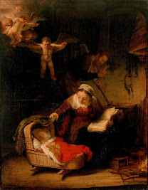 REMBRANDT The Holy Family with Angels  1645
