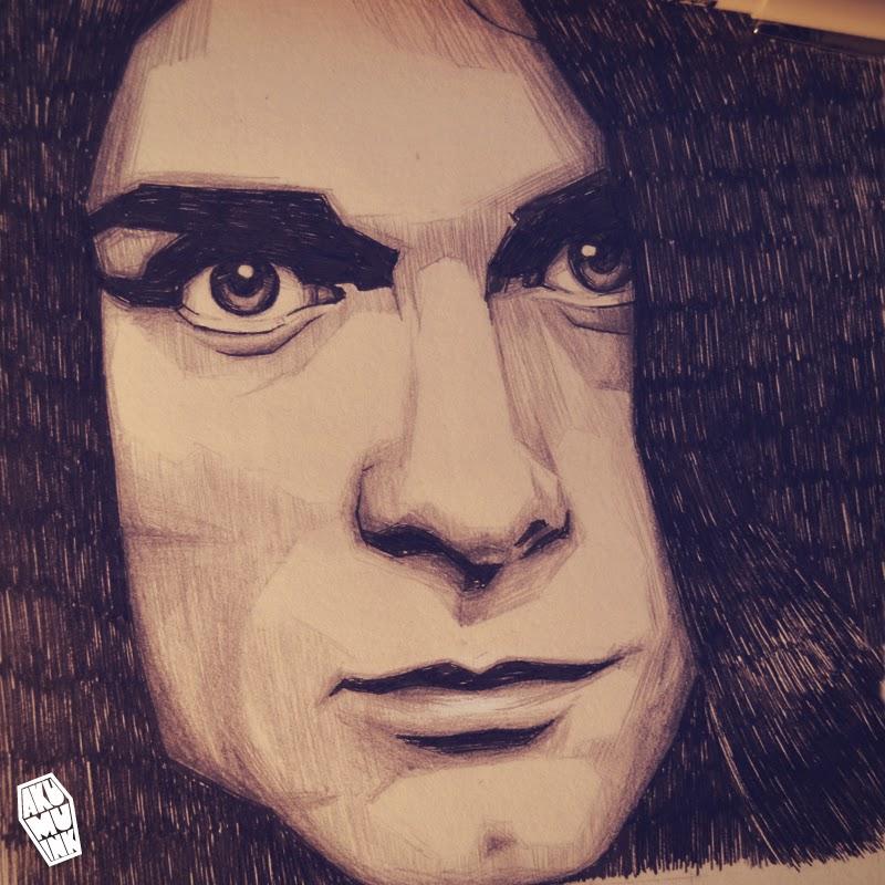 sketchbook, kurt cobain sketch, nirvana sketch, cobain portrait, cobain sketch, cobain drawing, cobain artwork, nirvana fanart, nirvana artwork