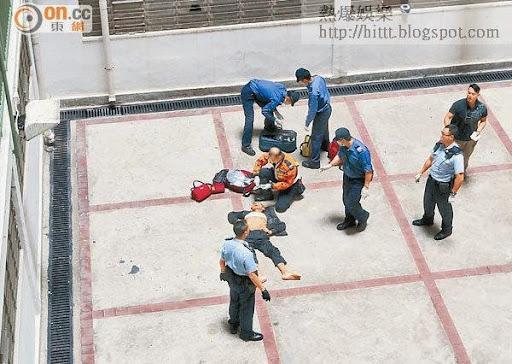 肺癌漢在新民樓墮樓身亡,其妻激動跪地認屍。