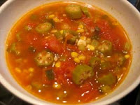 Weight Loss Recipes : Corn, Okra and Tomato Stew