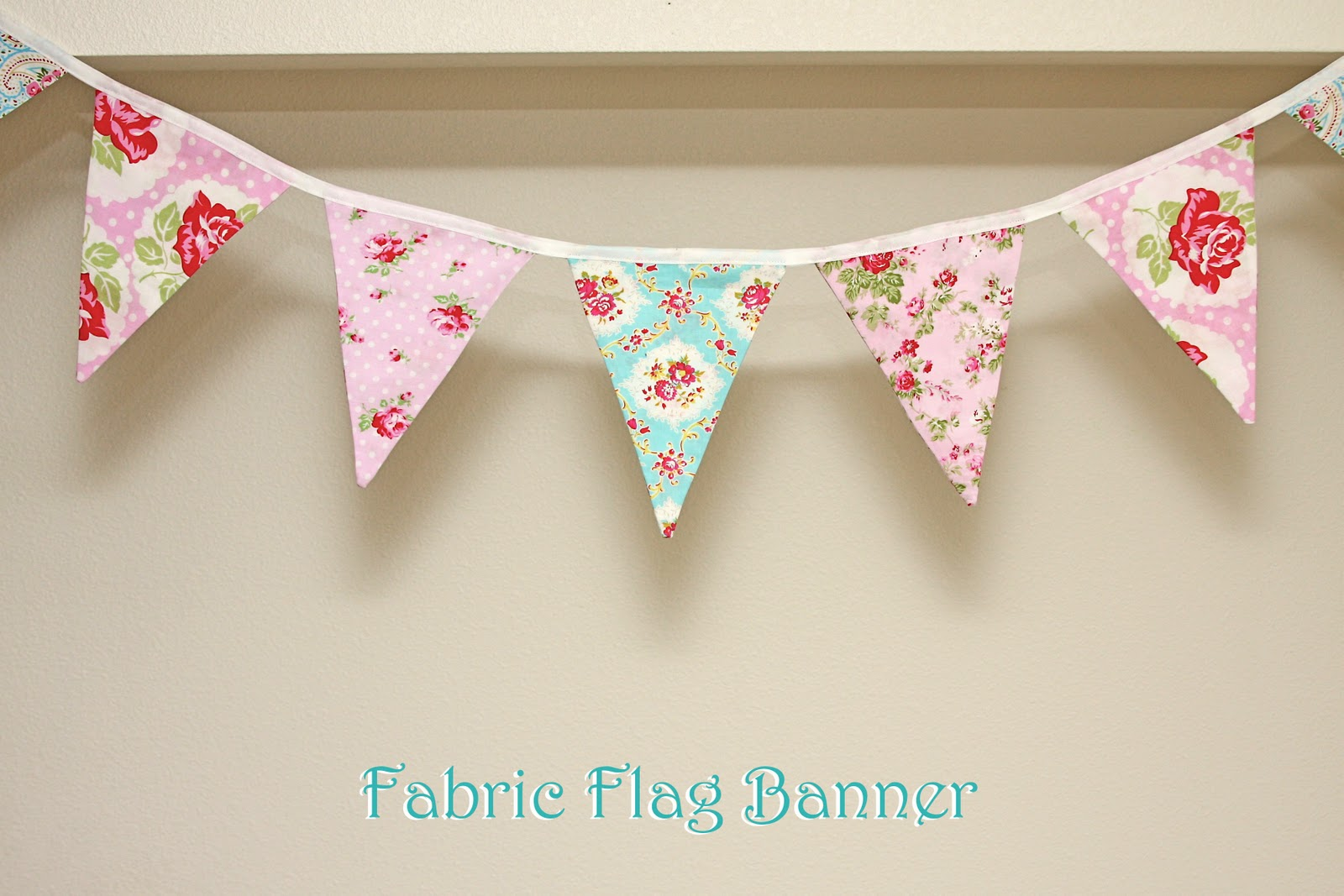 how to make a flag banner out of fabric
