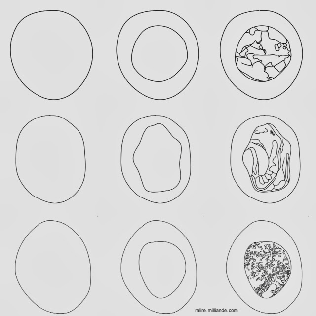 Sketchbook Number Symbology Monad Number One Symbol @ ralire.milliande.com, Part of the Ralire Study Project on Transpersonal Research as an Artfom