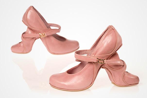 Арт обувки с високи токчета