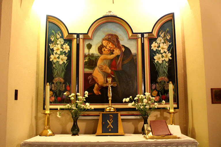 Virgin and baby tryptic at St. Barnabas church, Ottawa