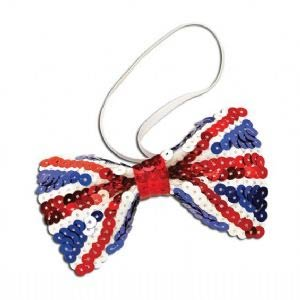 Inspiração Union Flag (bandeira do Reino Unido) - gravata borboleta