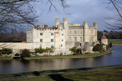 Facade of Leeds Castle in England