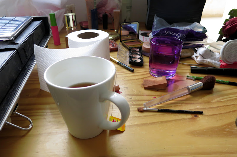 Tea and makeup