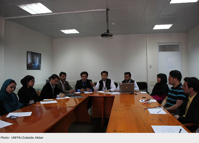 UNFPA STRENGHTENS ITS RELATIONSHIP WITH YOUNG PEOPLE IN AFGHANISTAN