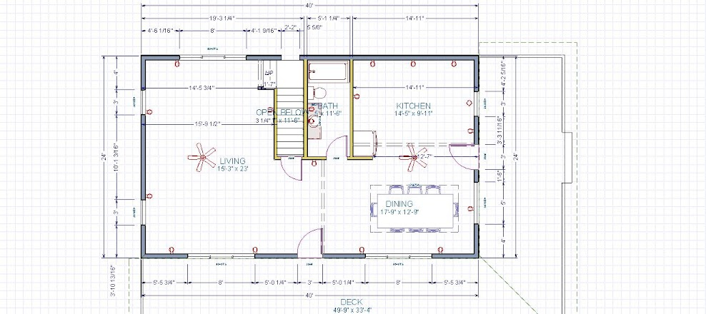 24x40 1 5 story construction for 24x40 house plans