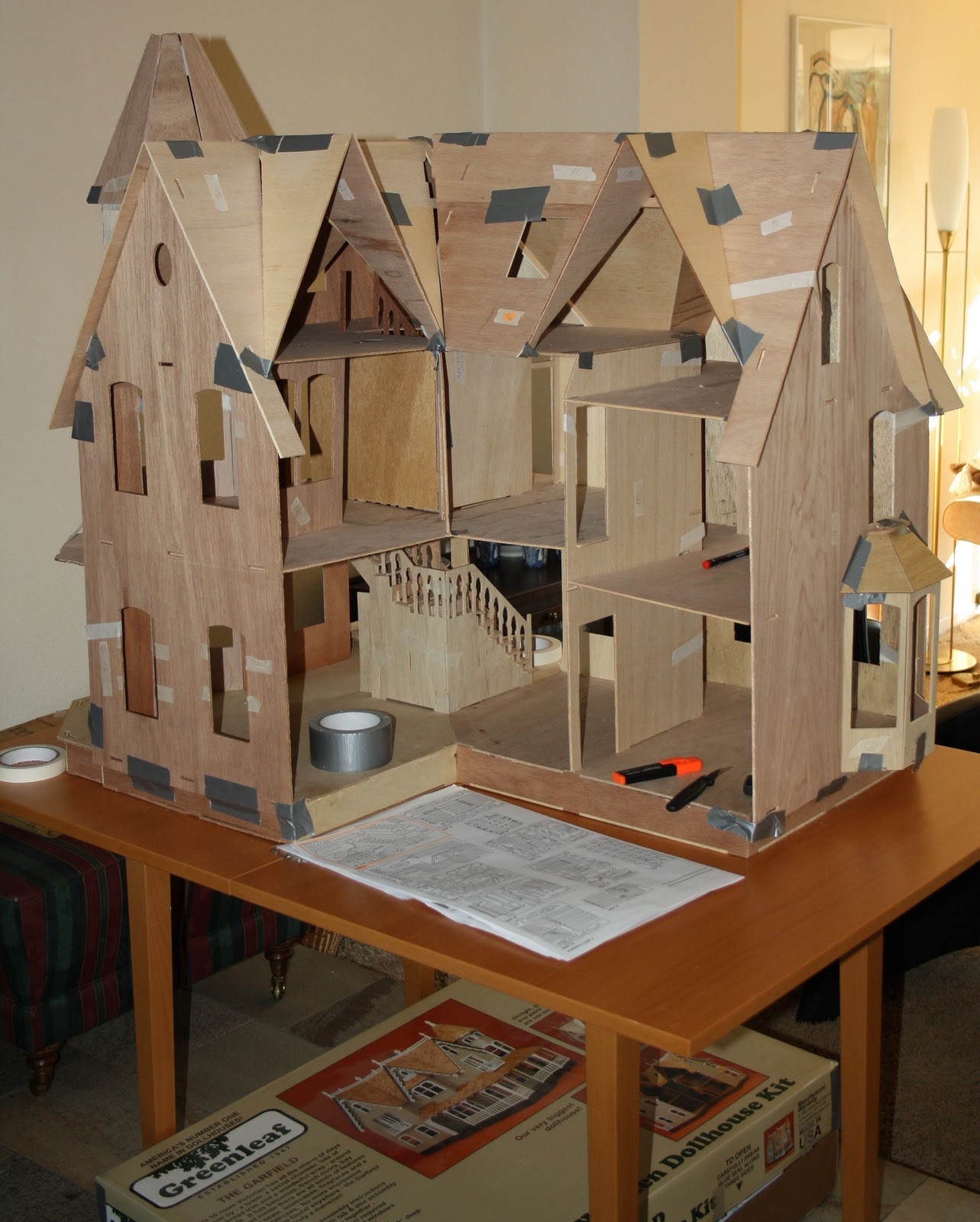 Start building the garfiel dollhouse start building the garfield doll house - When to start building a house ...