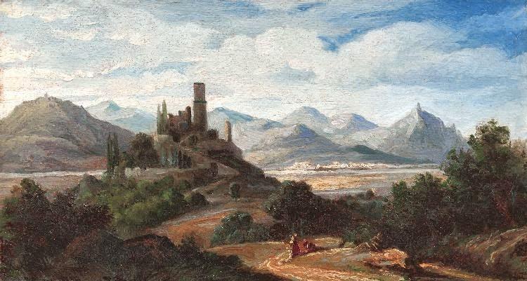 Johann Wilhelm Schirmer - Blick auf die Godesburg und das Siebengebirge