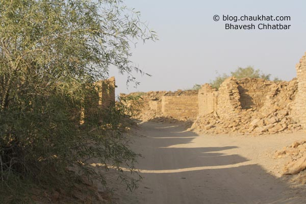 Kuldhara Village in Jaisalmer - Road