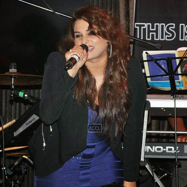 Artist performs during Ankit Tiwari's live concert, held at Hard Rock Cafe, on July 11, 2014.(Pic: Viral Bhayani)