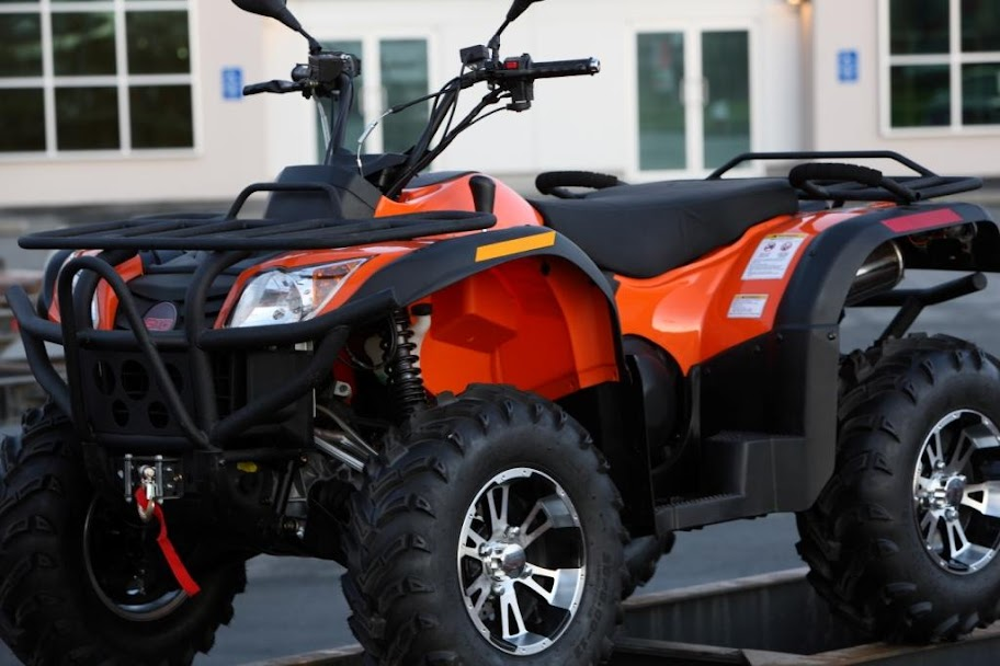 500cc 4wd Rubicon ATV Farm 4x4 Quad Bike Orange
