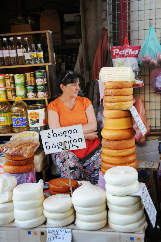 tbilisi outdoor market, cheese