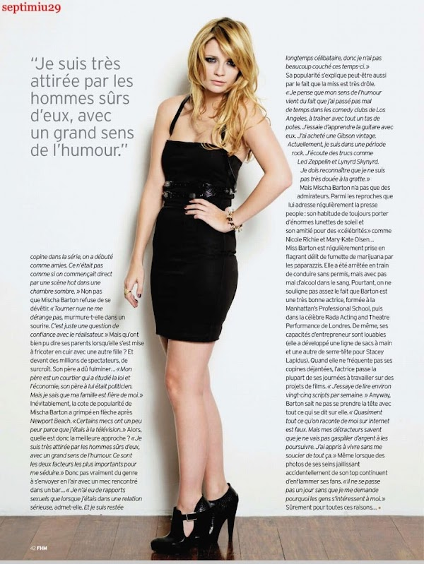 Mischa Barton FHM France (October 2010):Glamour0