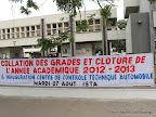 Lors de la collation des grades académiques à l'institut supérieur de techniques appliquées (ISTA/NDOLO)  le 27/08/2013 à Kinshasa. Radio Okapi/Ph. John Bompengo
