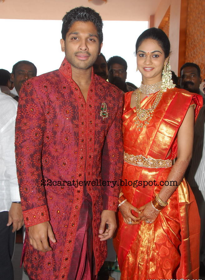 Snehareddy Diamond Jewellery At Her Wedding Reception Party
