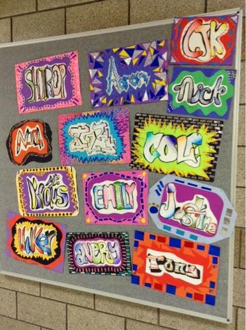Art at becker middle school graffiti mola names for Creative fish names