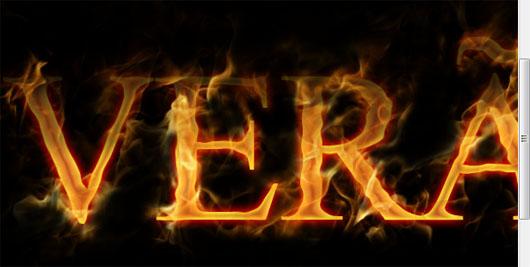 Use a Eraser Tool (Borracha) para apagar todo o excesso das chamas