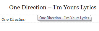 How to: Add Attribute Title In Blogger Post Title, one-direction-im-yours