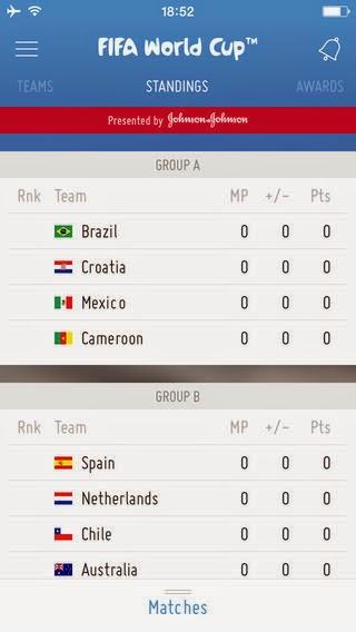 2014 브라질 월드컵 축구 경기 결과 순위를 보여주는 추천 앱