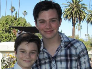 Glee Kurt Chris Colfer child