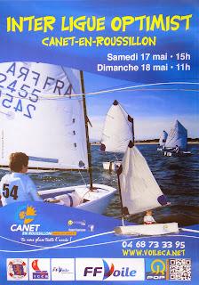 Voile régate Interligue Optimist 2014 Canet-en-Roussillon 17 et 18 mai