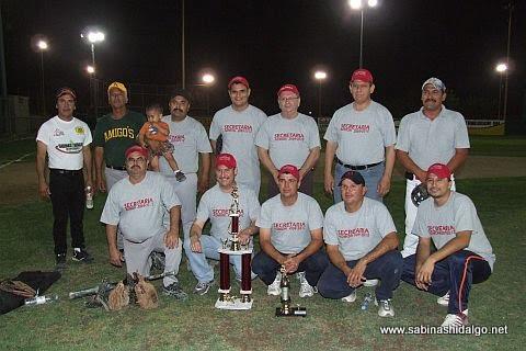 Equipo Administración del torneo de softbol de empleados municipales