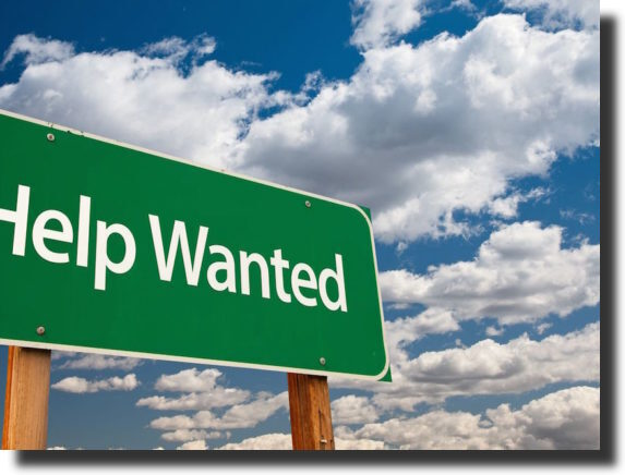 """a banner with the text """"Help Wanted"""" Build an Online Course"""