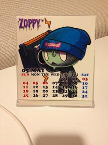 カレンダーのZOPPY