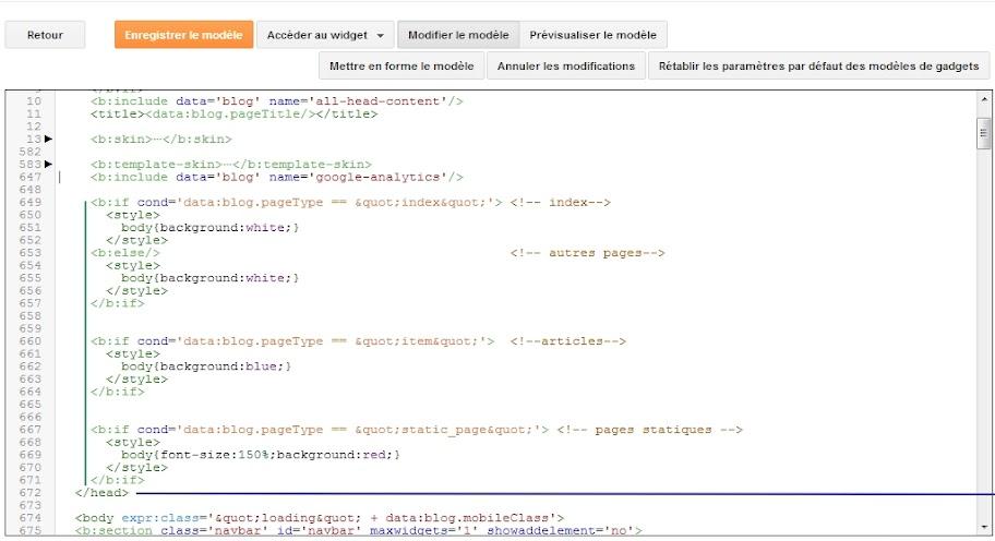Où ajouter des lignes CSS