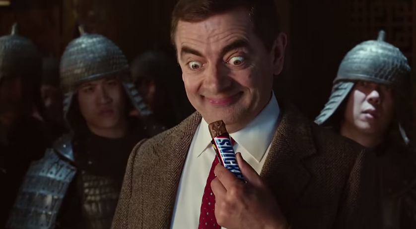 Snickers Mr Bean TV advert — Kung Fu