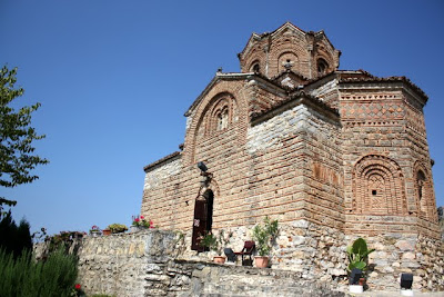 The church of Sveti Jovan at Kaneo in Ohrid Macedonia