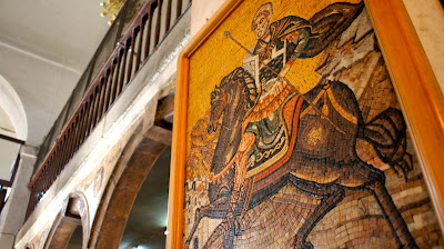 Mosaic art in a Greek Orthodox Church