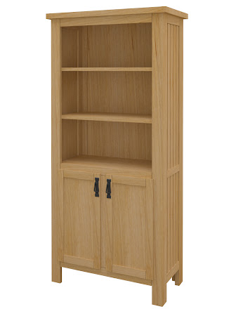 Mission Wooden Door Bookshelf in Ginger Maple
