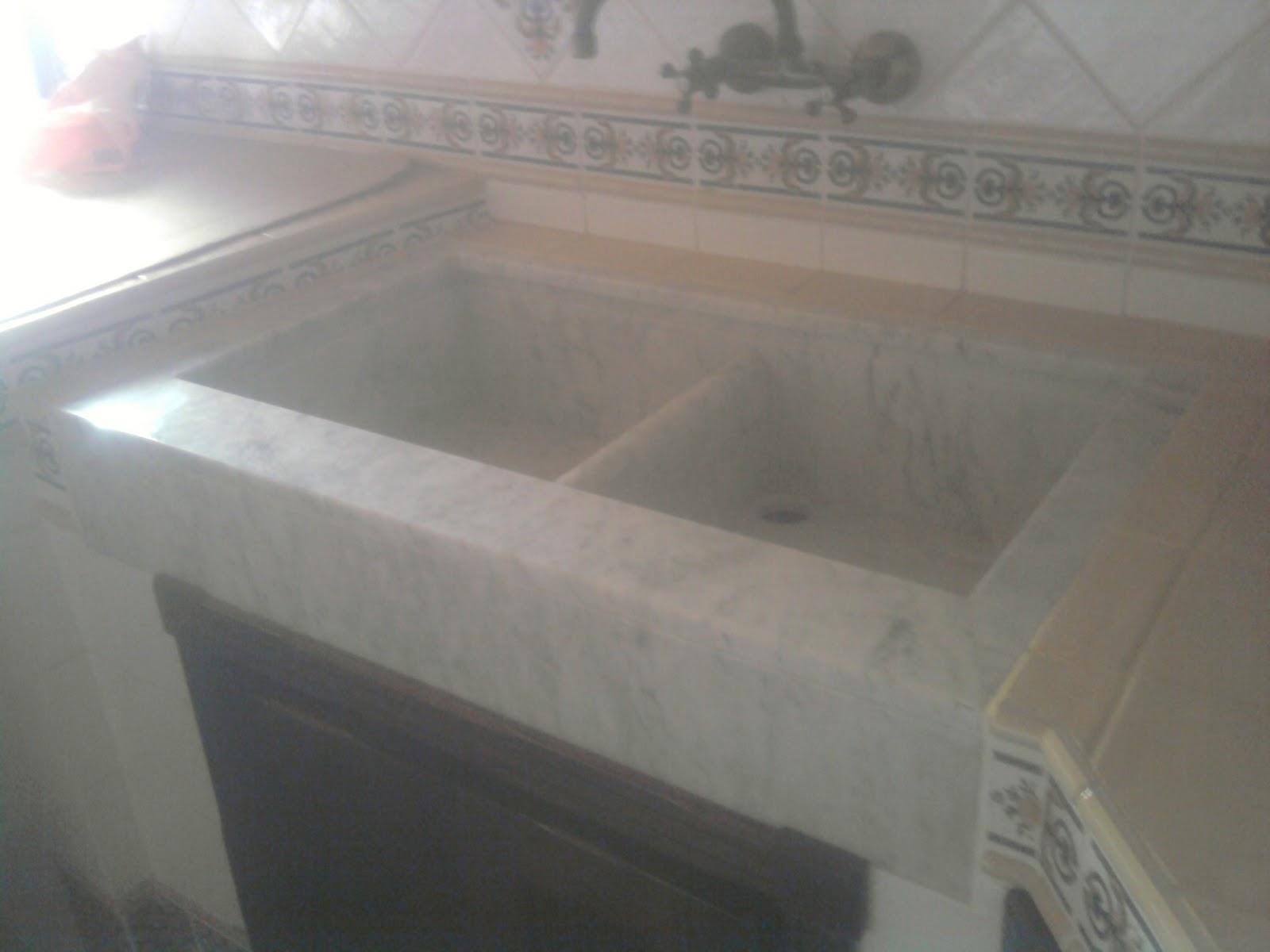 Hnos orellana c b fregadero en marmol - Fregadero marmol ...