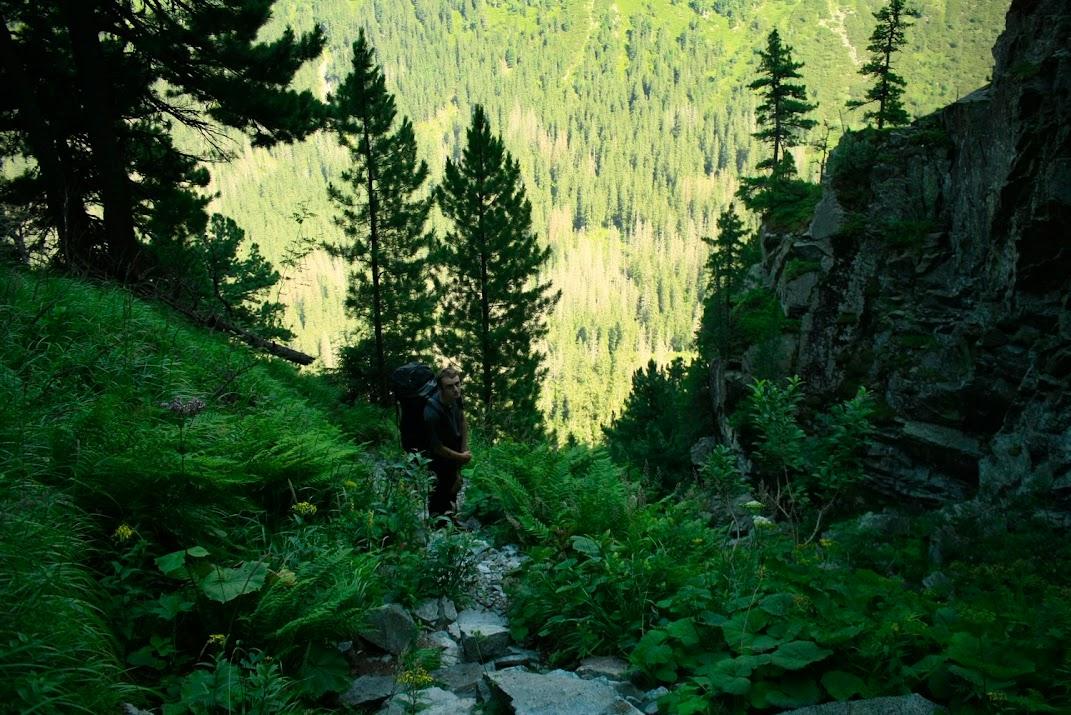 Dolina Ciężka - zejście do Doliny Białej Wody