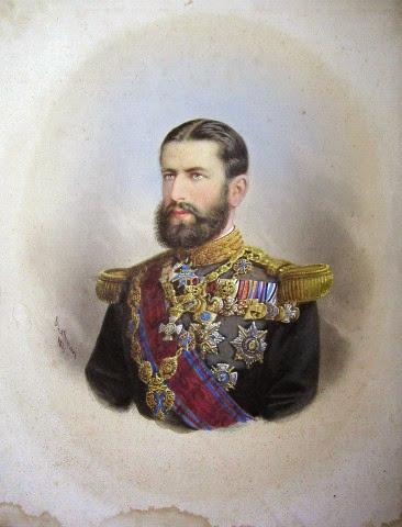Regele Carol I, portret de Szathmari